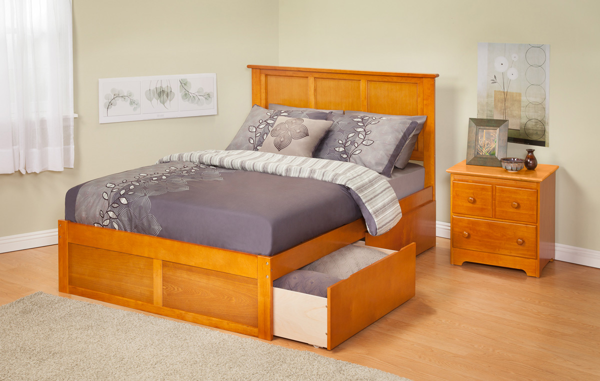 Madison Caramel Latte Platform Bed By Atlantic Furniture