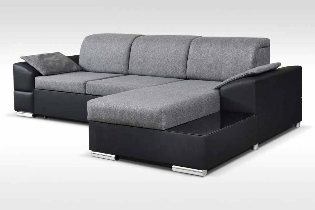 Marcel Gray Sectional Sofa by Skyler Designs