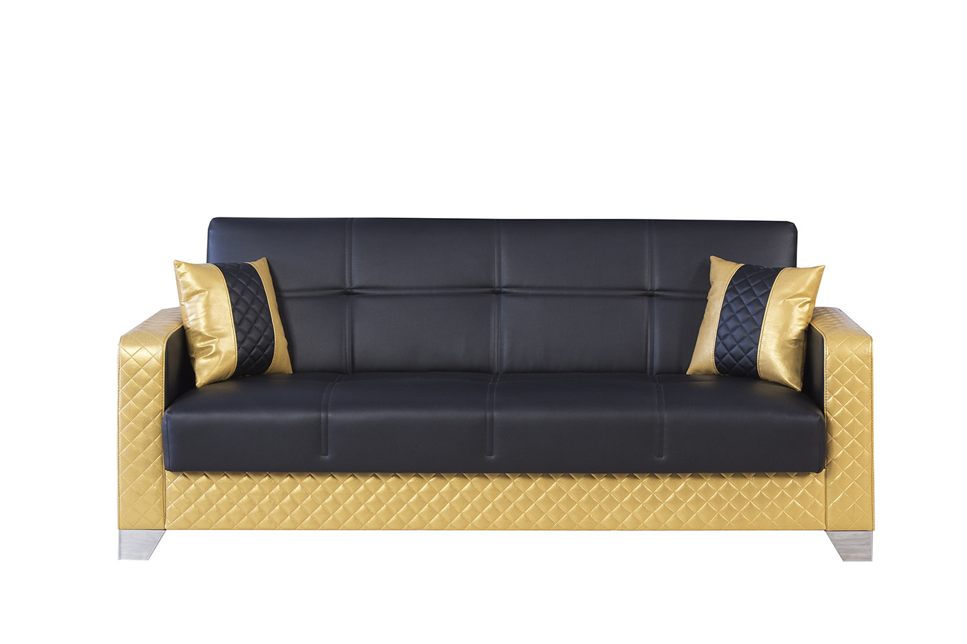 Maximum Value Black Gold Convertible Sofa By Casamode