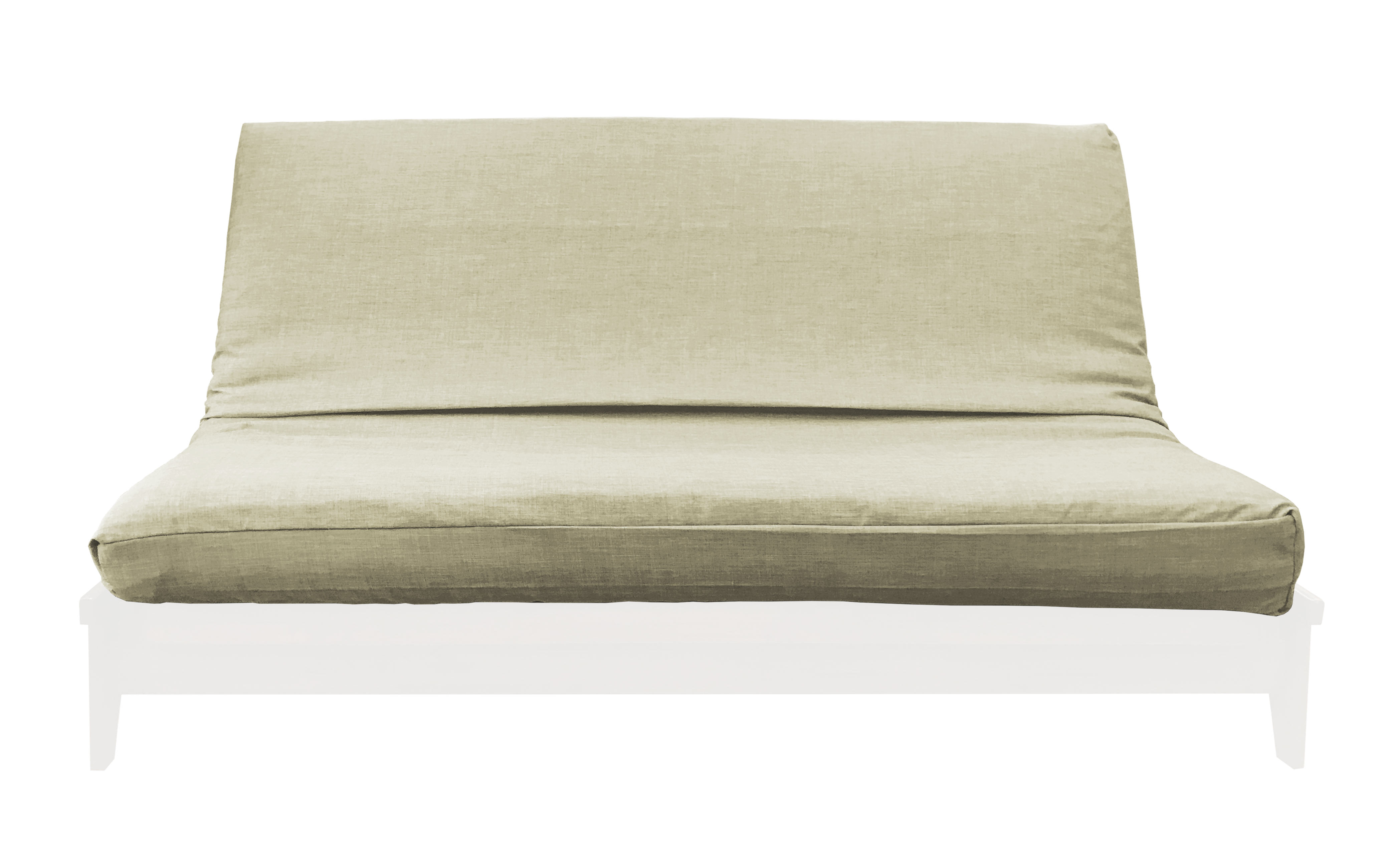 Medley Burlap Linen Texture Futon Cover