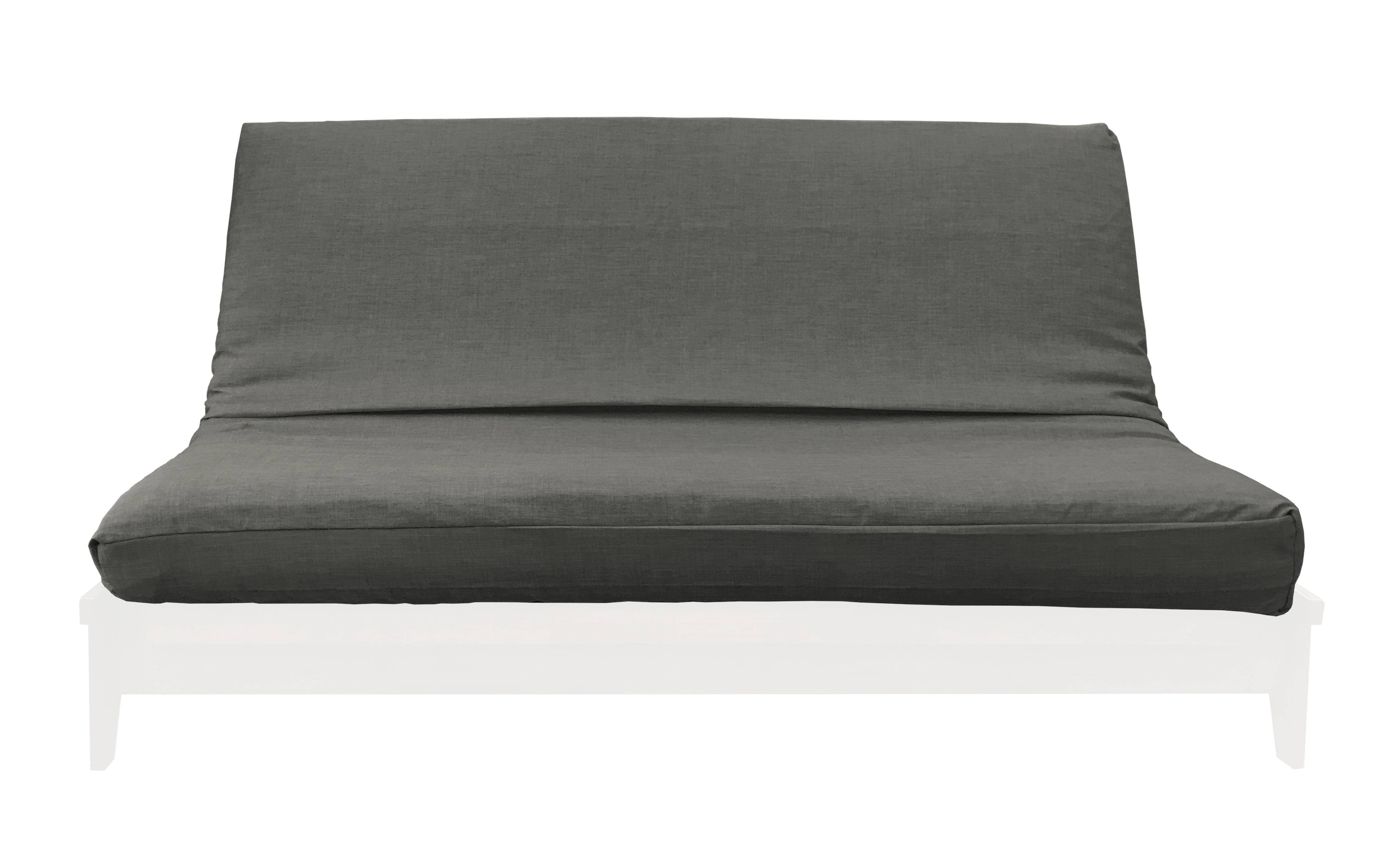 Medley Charcoal Linen Texture Futon Cover By Prestige