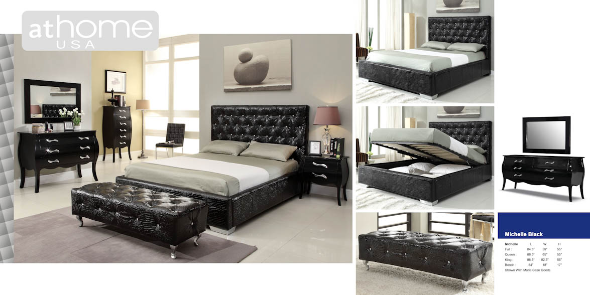 michelle black bedroom set by at home usa