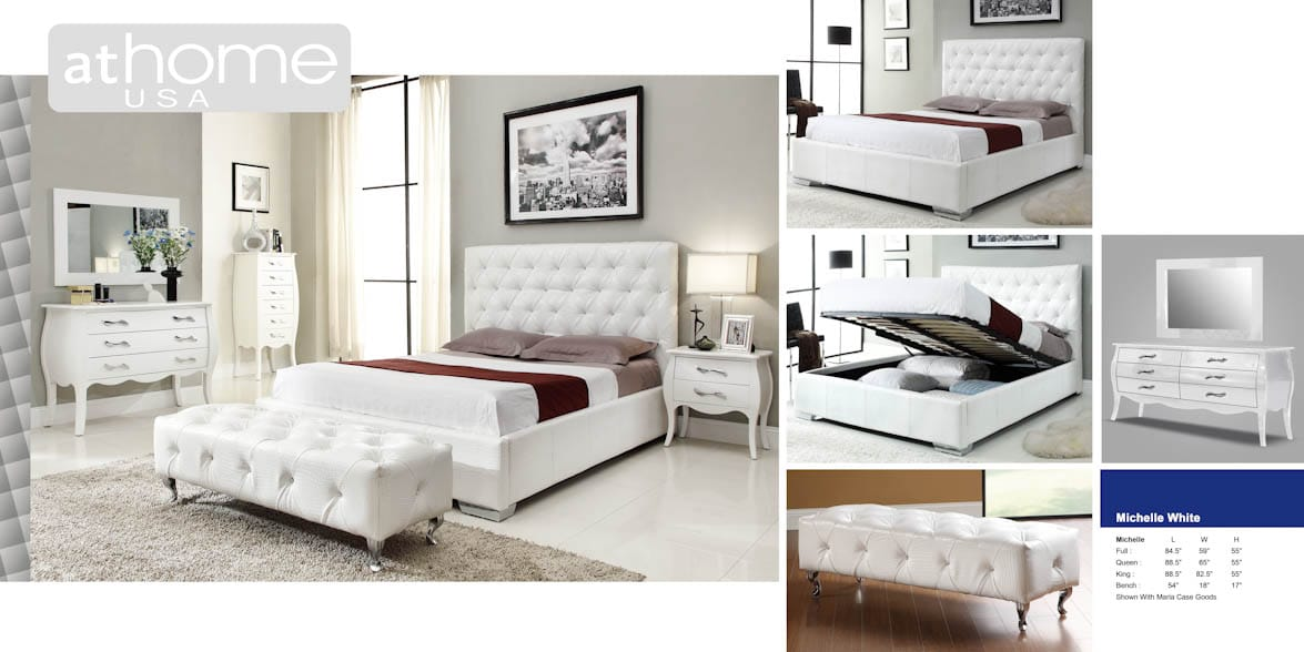 michelle white bedroom set by at home usa