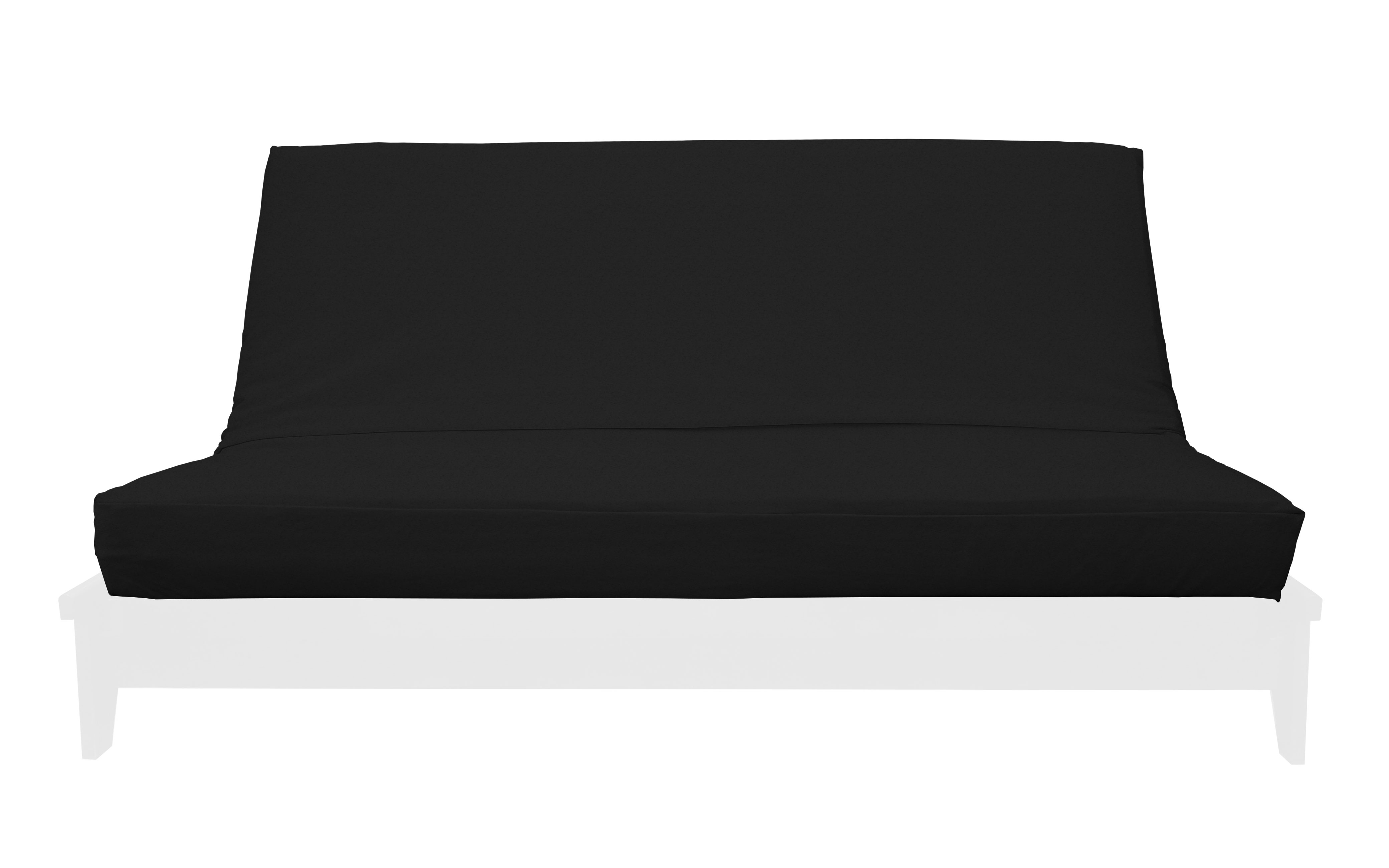 Import Collection Black Microsuede Futon Cover by Prestige