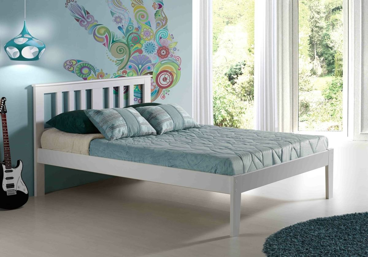 milan platform bed white by innovations -