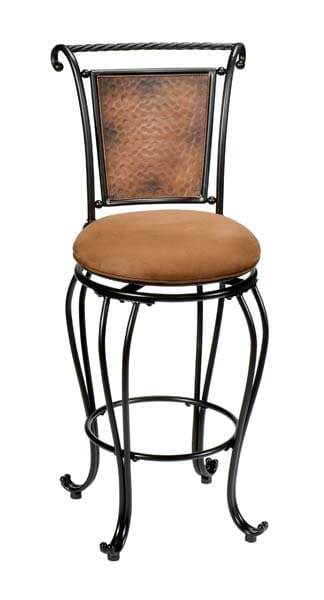 Stupendous Milan Swivel Counter Stool Copper 4527 827 By Hillsdale Unemploymentrelief Wooden Chair Designs For Living Room Unemploymentrelieforg