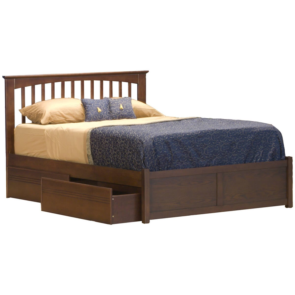 Picture of: Mission Espresso Platform Bed By Atlantic Furniture