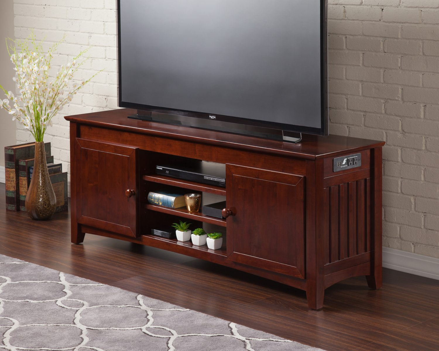 Mission Tv Table Antique Walnut By Atlantic Furniture