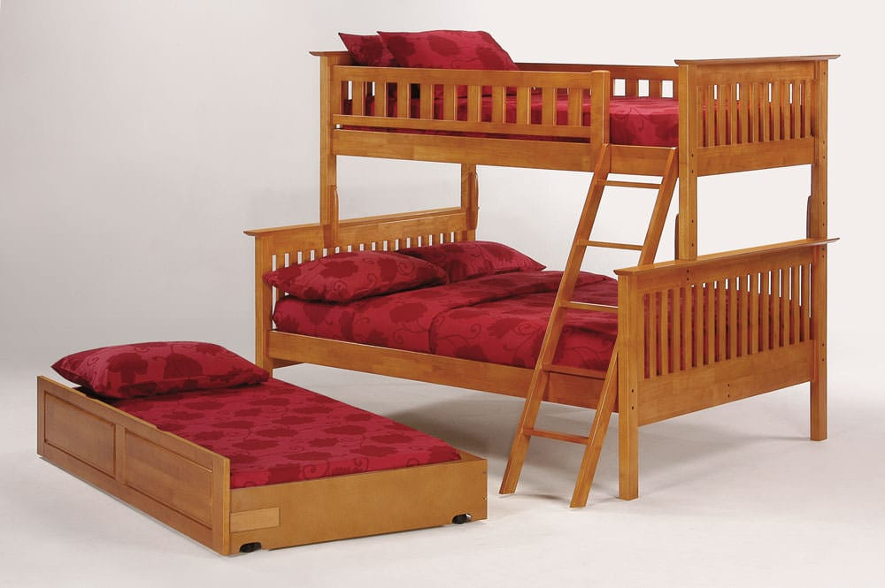 Mission Bunkbed Twin Over Full By J M Furniture