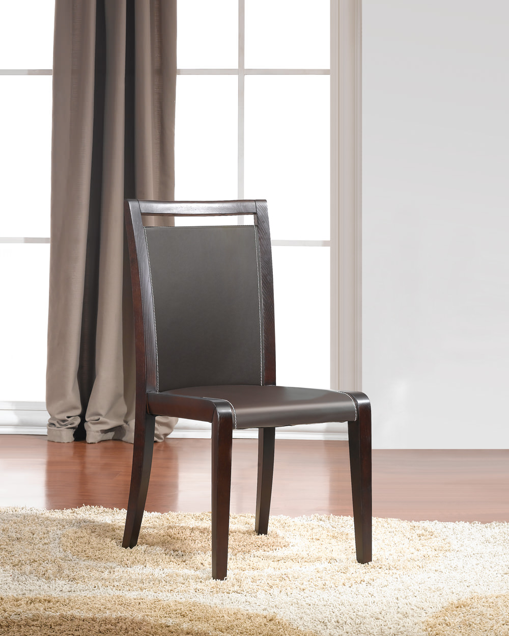 Colibri modern dining chair set of 2 by j m furniture for Contemporary furniture chairs