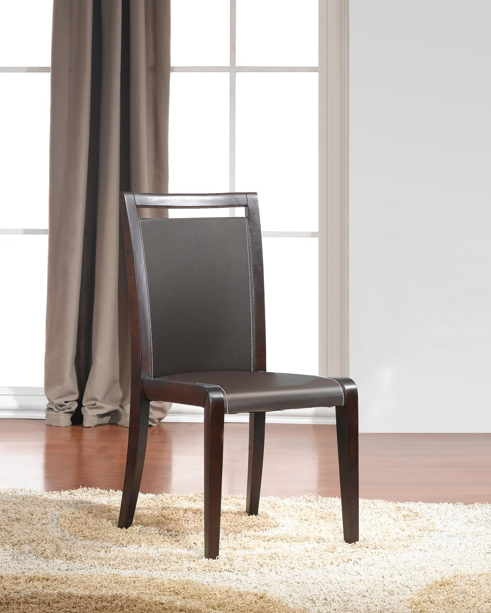 Colibri modern dining chair set of 2 by j m furniture for Contemporary seating chairs