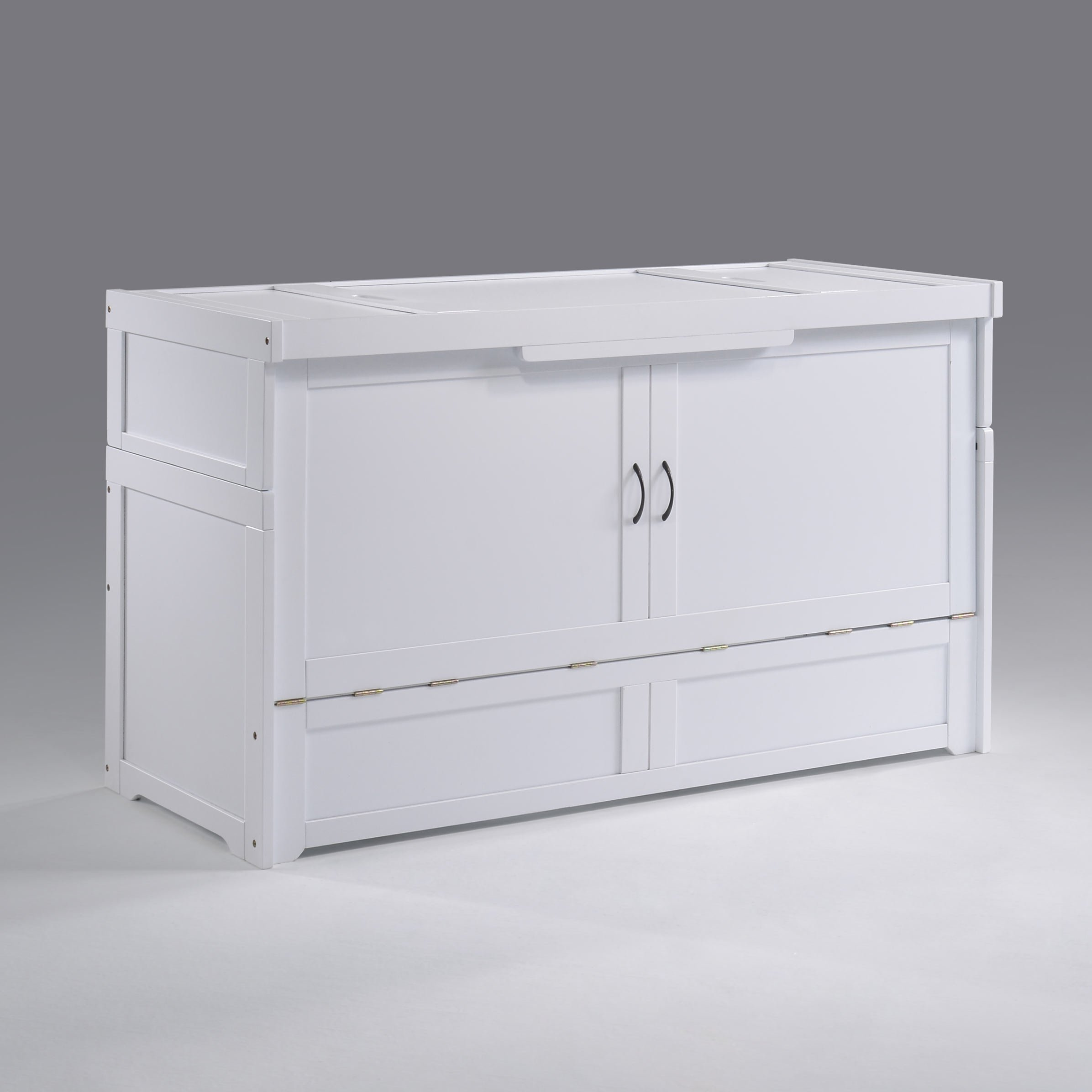 Cube 2 Queen Murphy Cabinet Bed White By Night Day Furniture