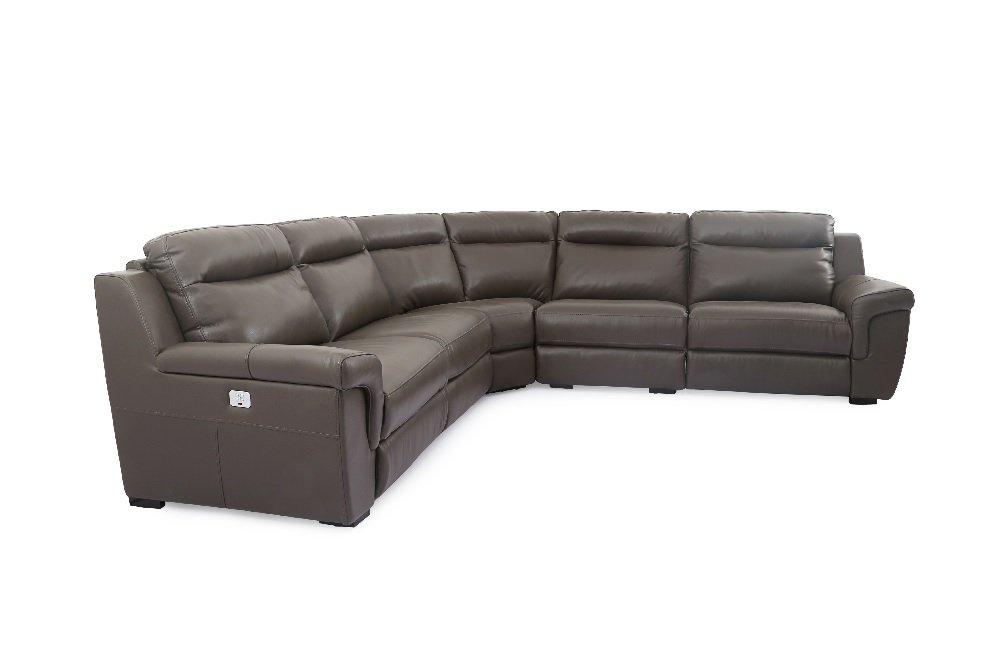 Muse Premium Italian Leather Motion Sectional by JM Furniture