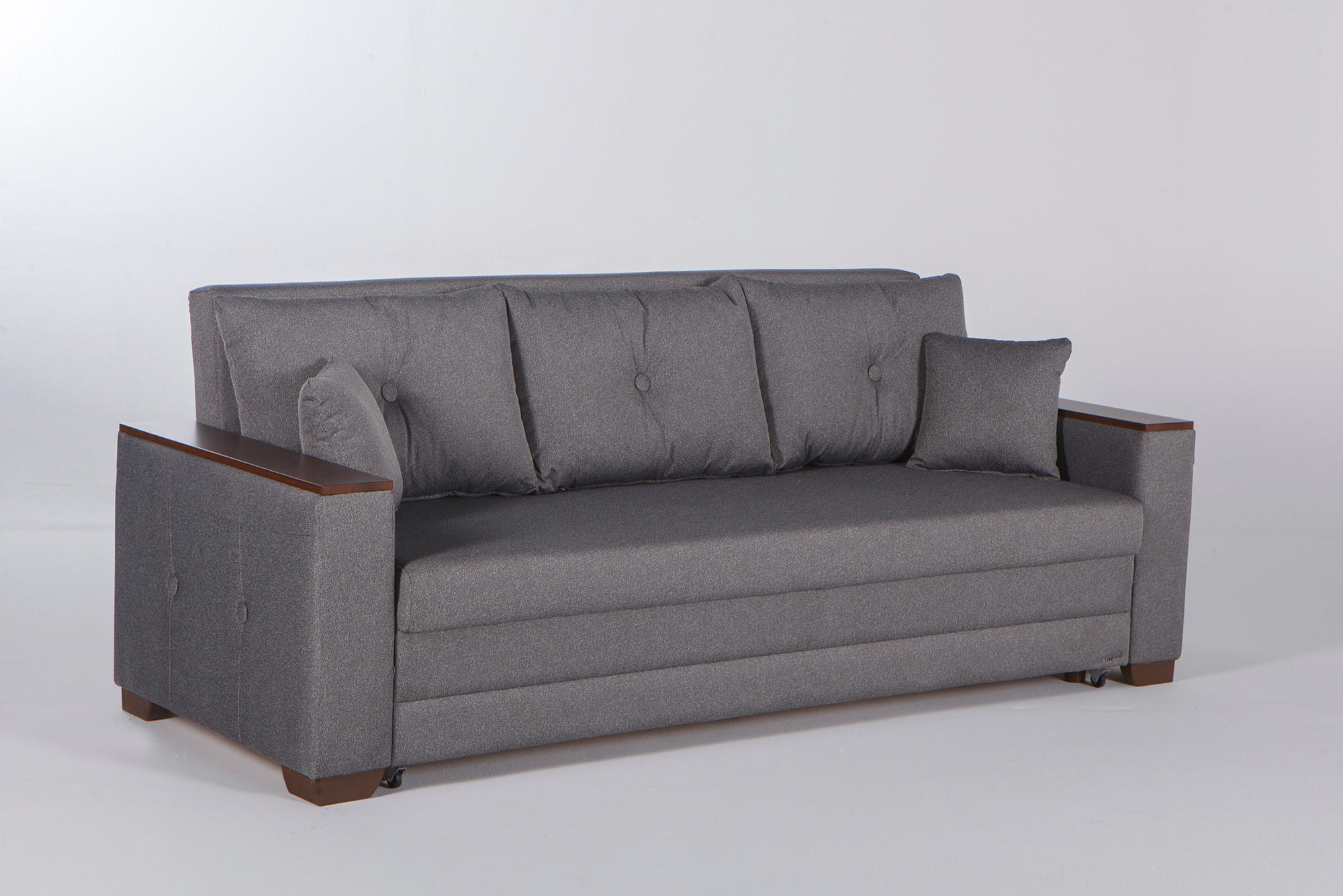 Nantes Seramo Gray Convertible Sofa Bed By Istikbal Furniture