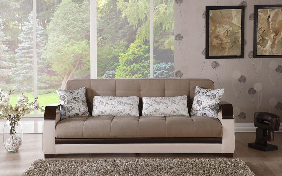 Natural Naomi Light Brown Convertible Sofa Bed By Istikbal Furniture