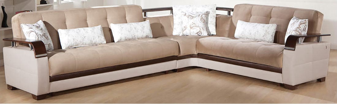 Natural Naomi Light Brown Sectional Sofa By Istikbal Furniture