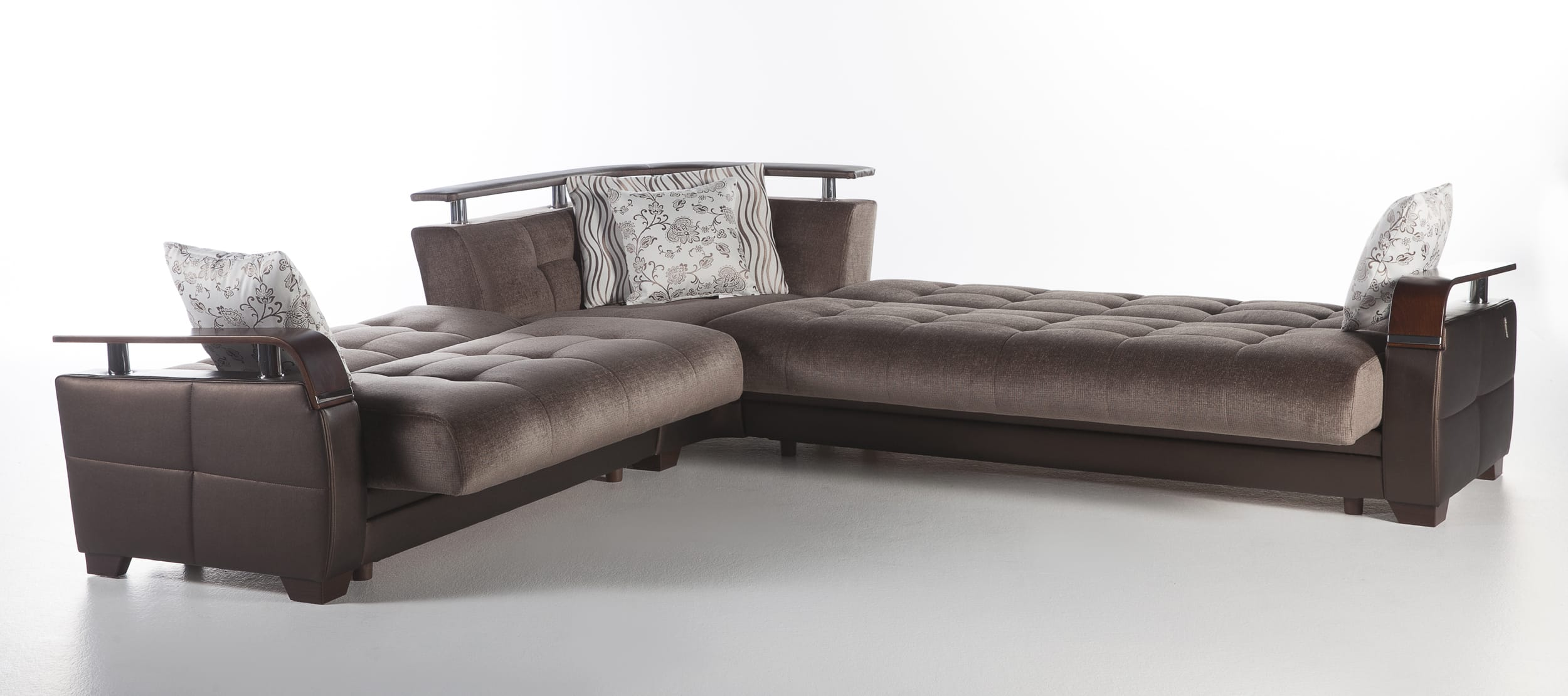 Natural Prestige Brown Sectional Sofa by Sunset