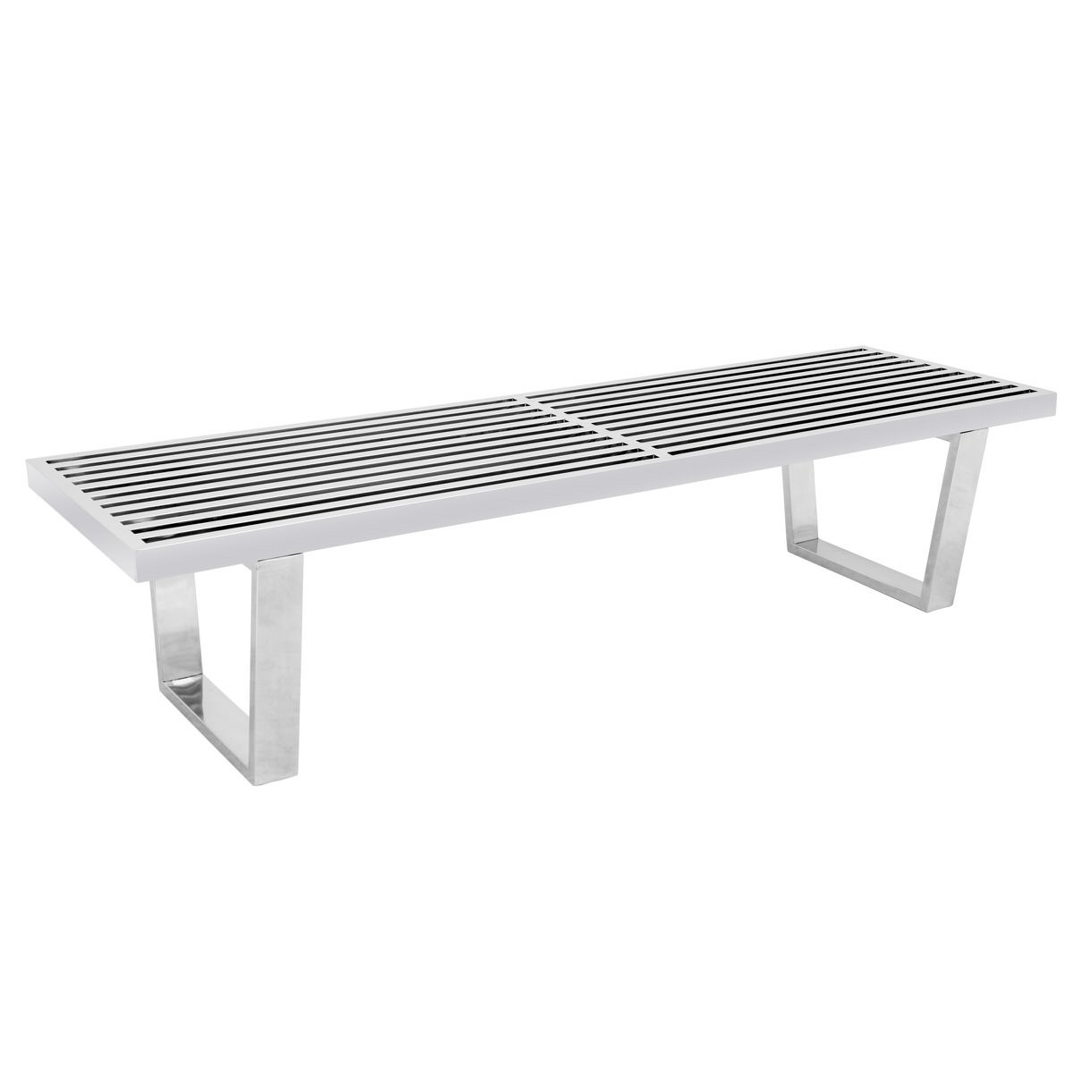 Phenomenal Nelson Mid Century Inwood Silver Platform Bench 5 Feet By Leisuremod Gmtry Best Dining Table And Chair Ideas Images Gmtryco
