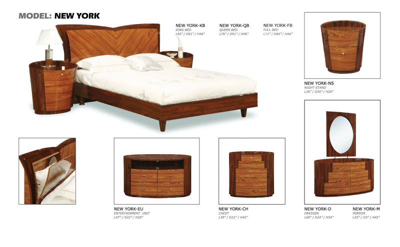 Bedroom Furniture New York new york kokuten glossy bedroom setglobal furniture