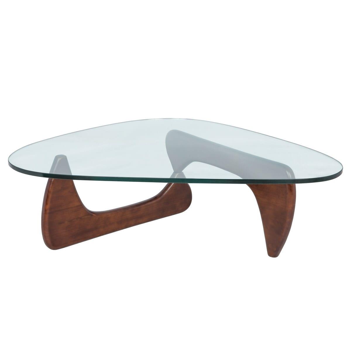 - Imperial Triangle Dark Walnut Coffee Table By LeisureMod