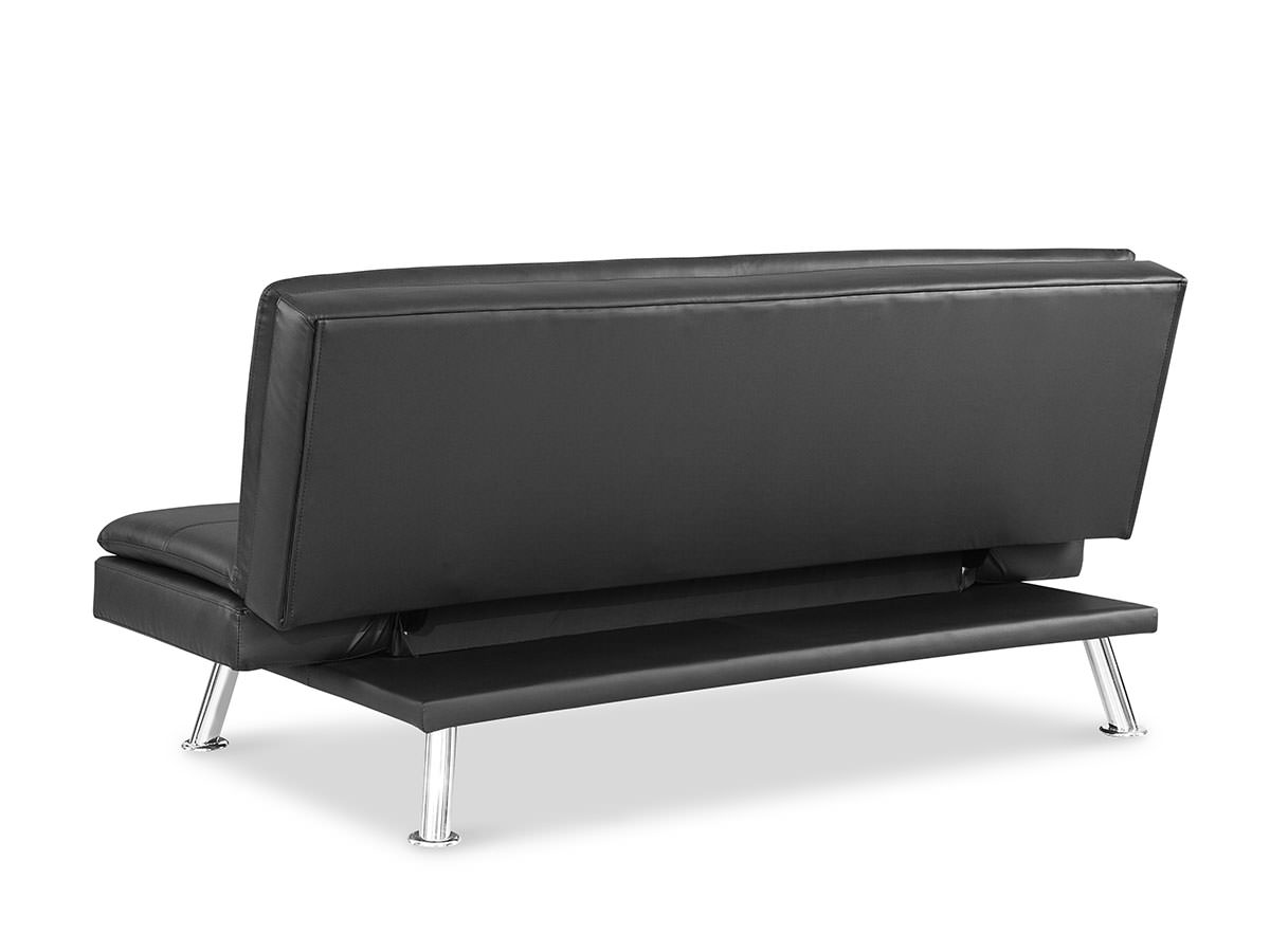 Niles Convertible Sofa Black By Serta Lifestyle