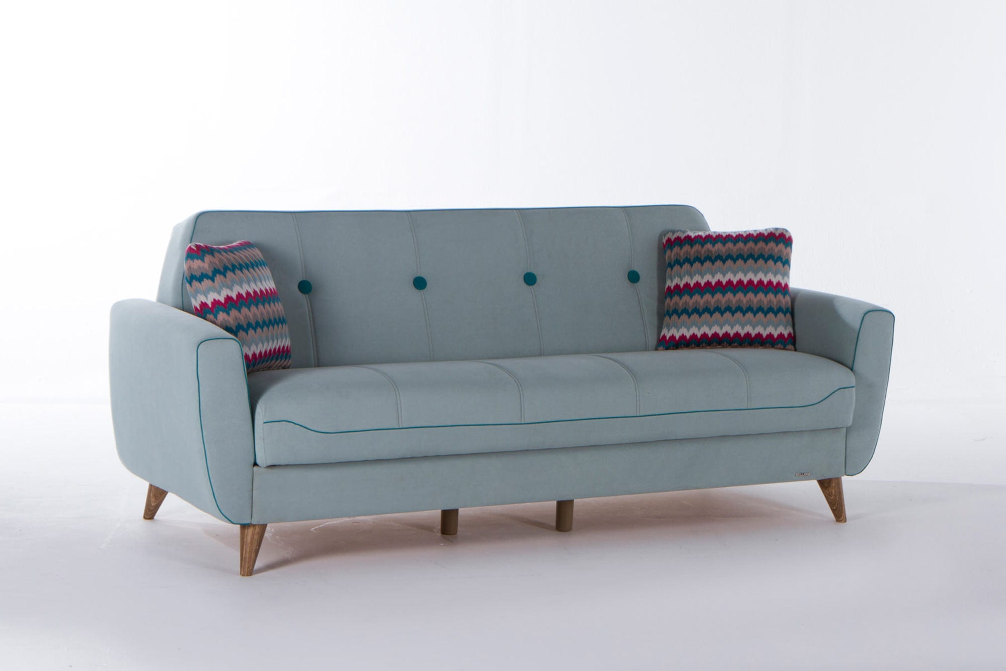 Nora Zigana Light Blue Sofa Love Chair Set By Istikbal Sunset