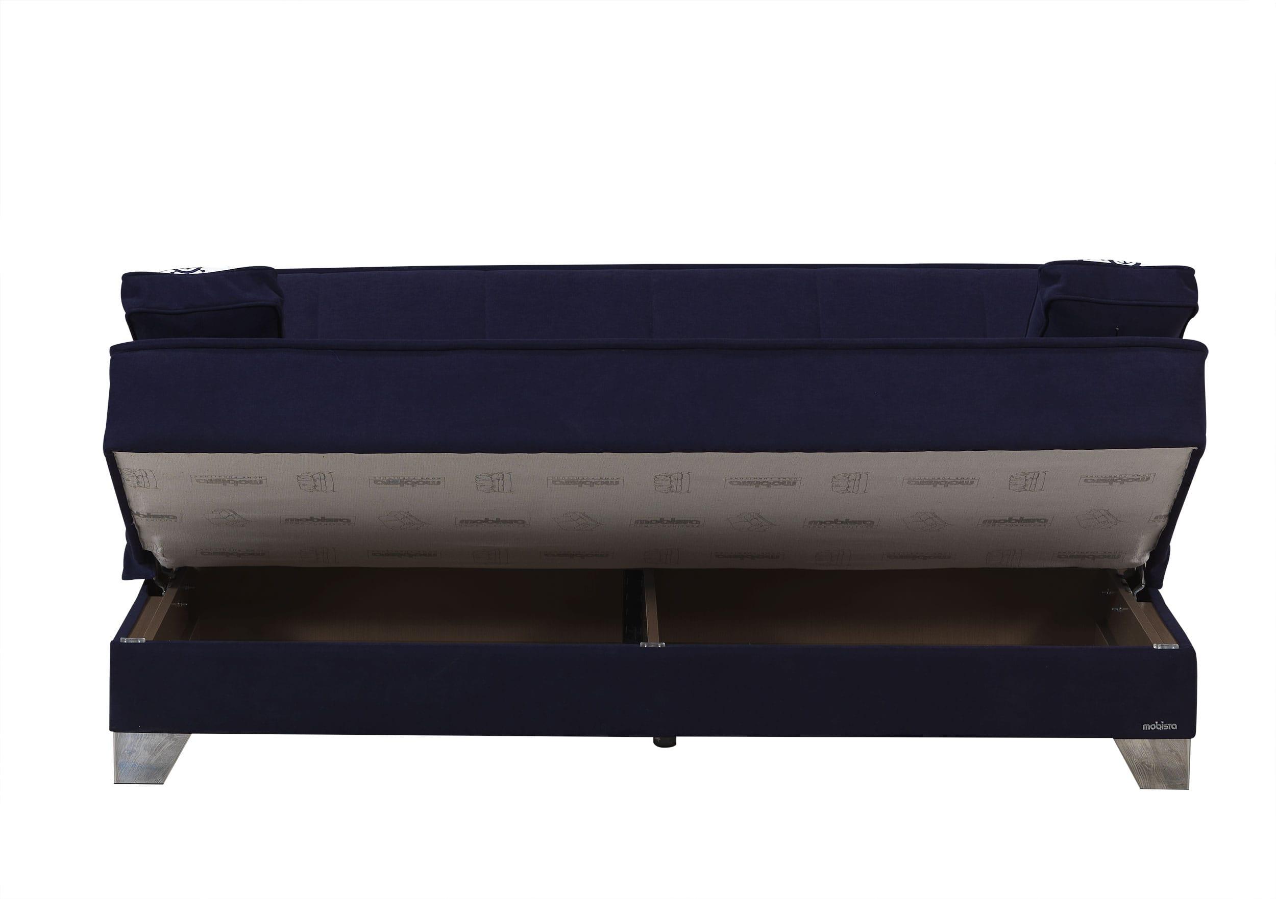 Nexo Carisma Navy Blue Sofa Bed by Mobista