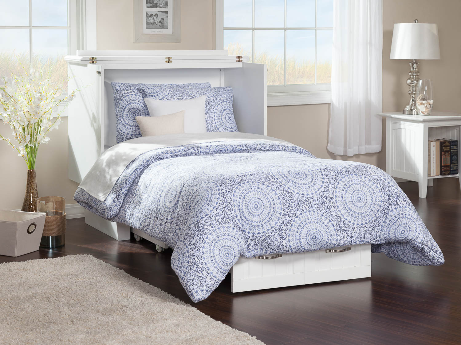 Nantucket Murphy Bed Chest Bed White By Atlantic