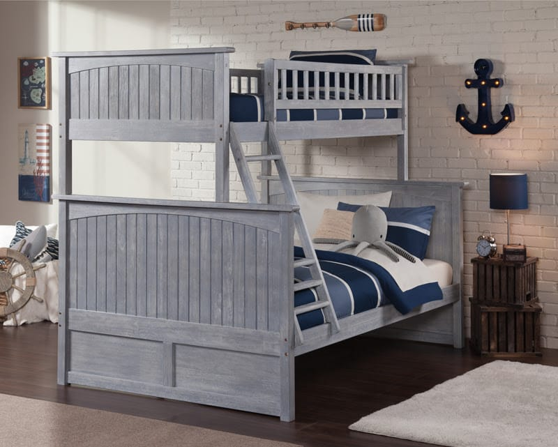 Nantucket Driftwood Brushed Grey Bunk, Atlantic Bed And Furniture