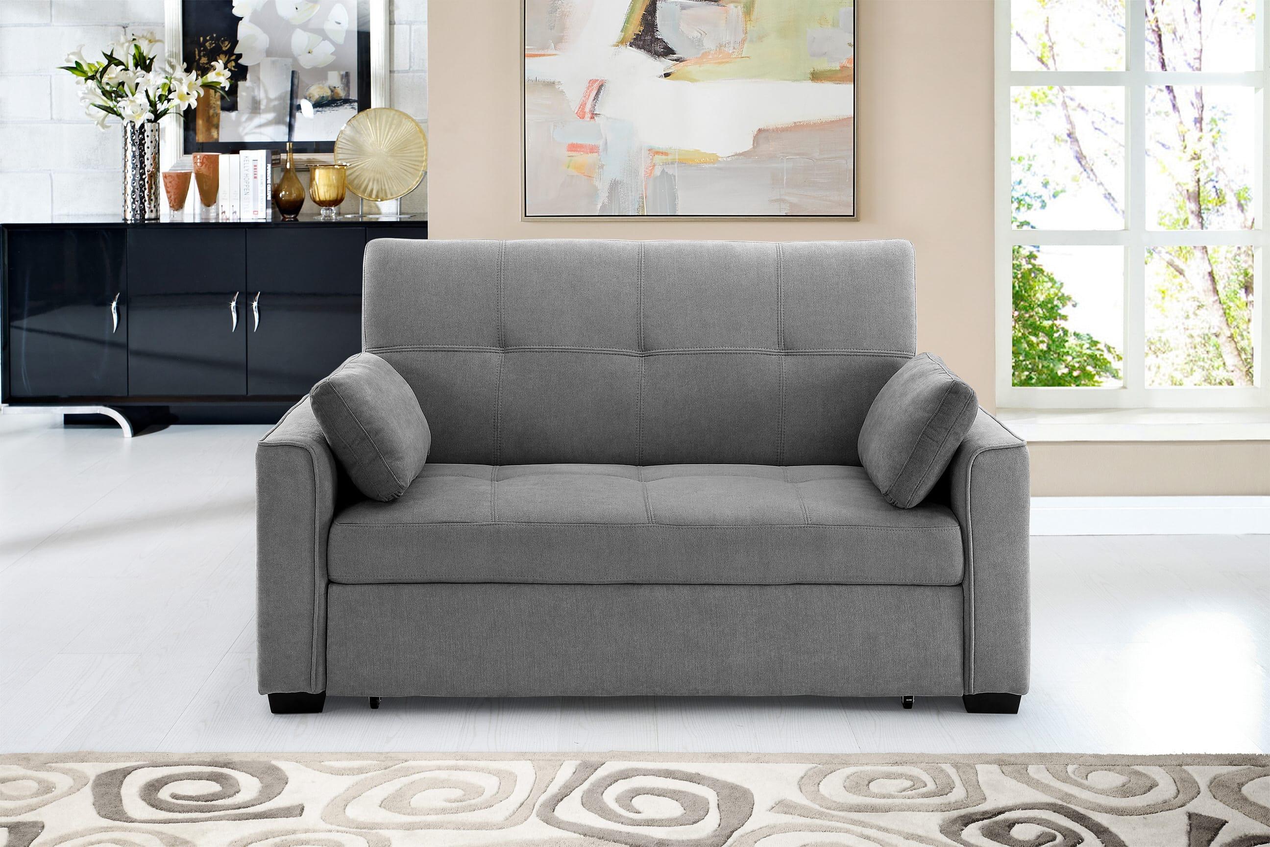 Nantucket Loveseat Full Size Sleeper Light Gray by Night&Day Furniture