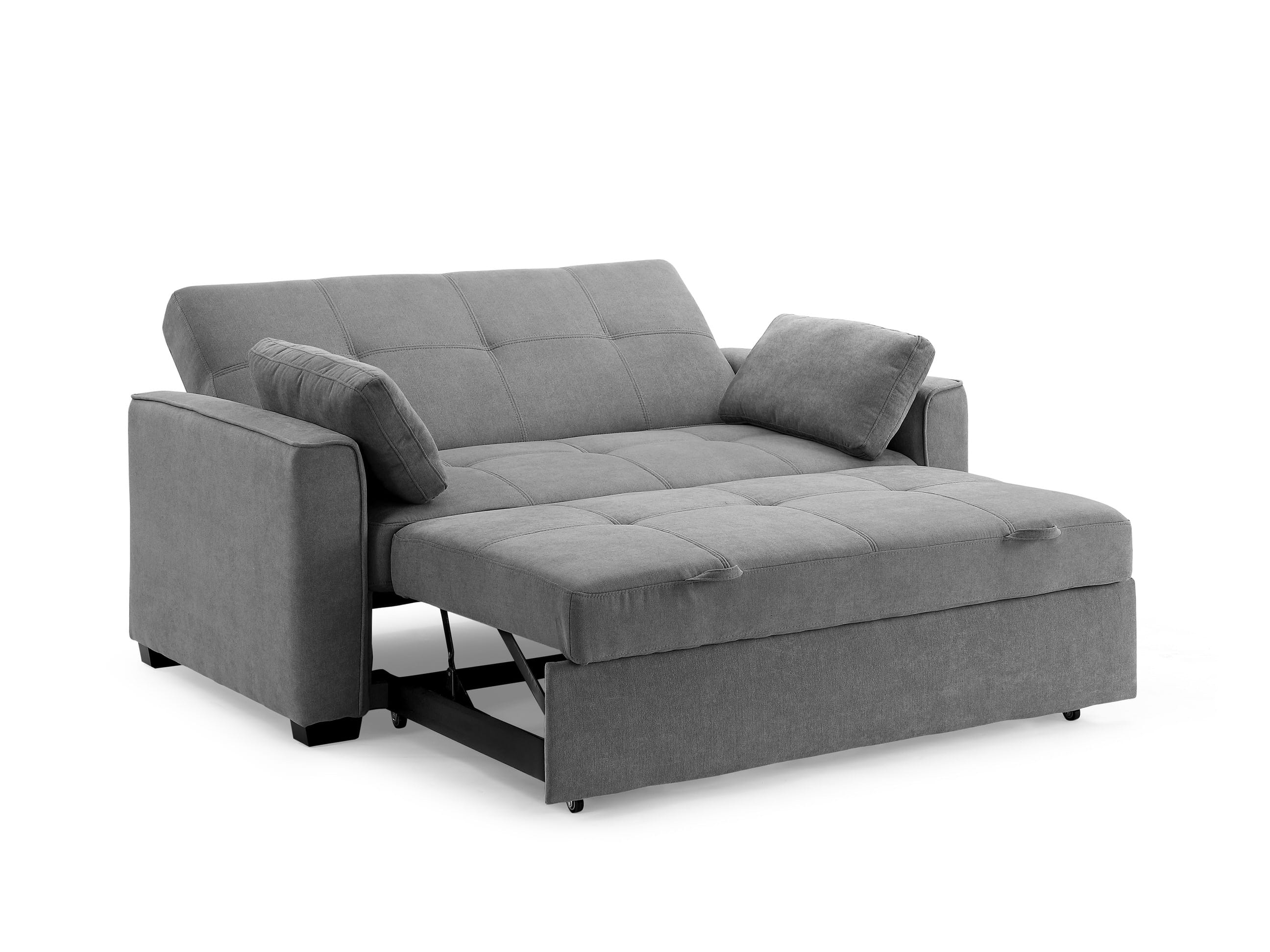 Sleeper Sofa.Nantucket Loveseat Full Size Sleeper Light Gray By Night Day Furniture