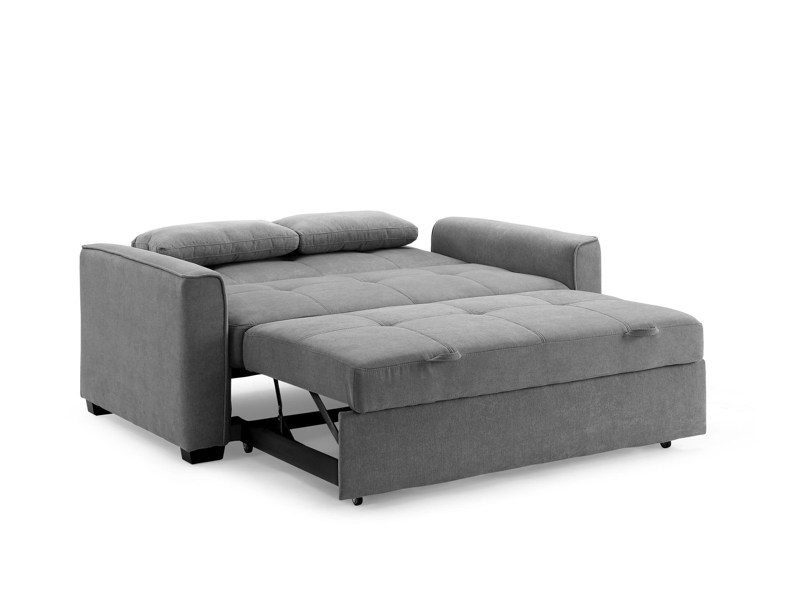Nantucket loveseat full size sleeper light gray by nightday furniture