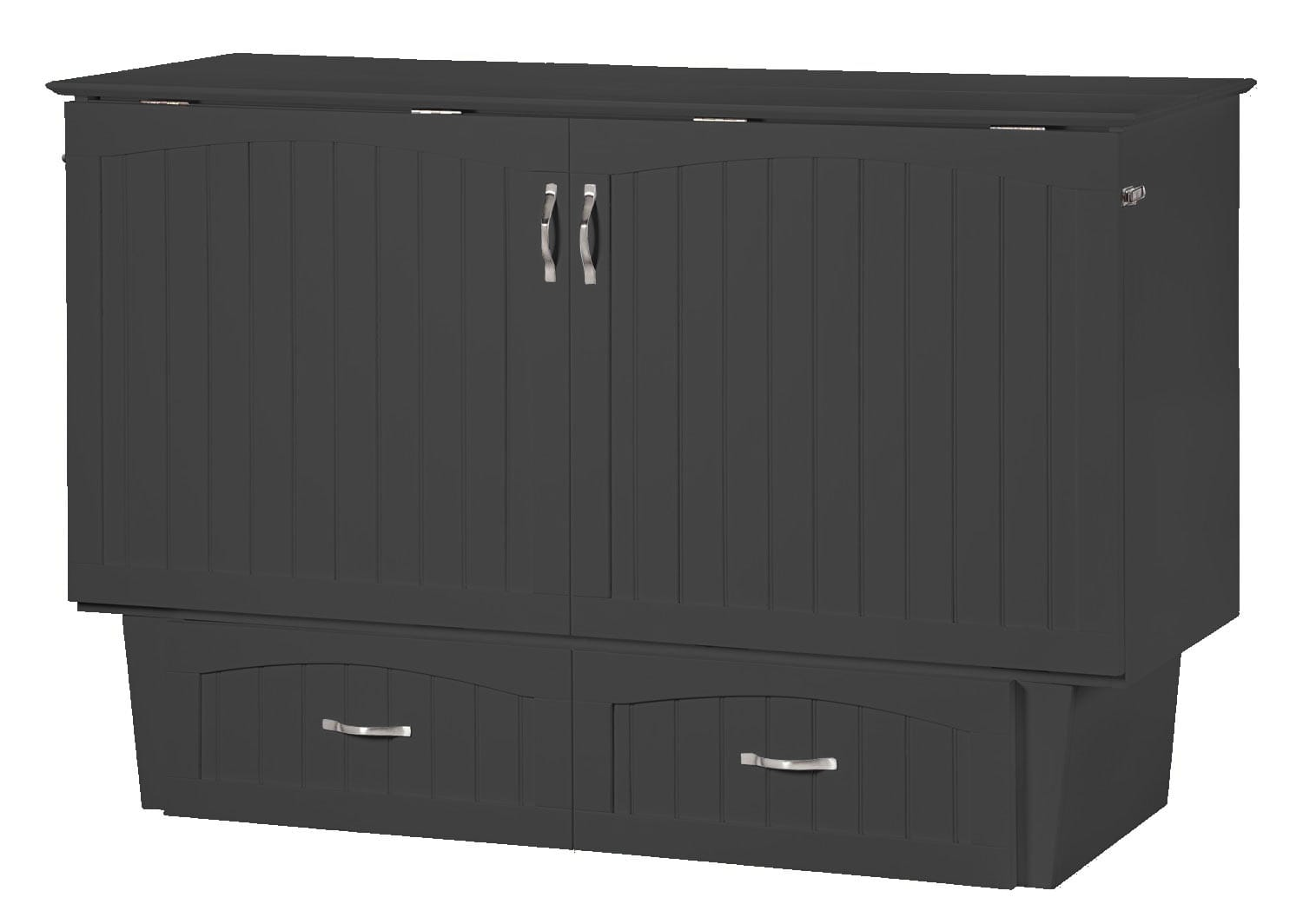 Nantucket Murphy Bed Chest Bed Gray By Atlantic