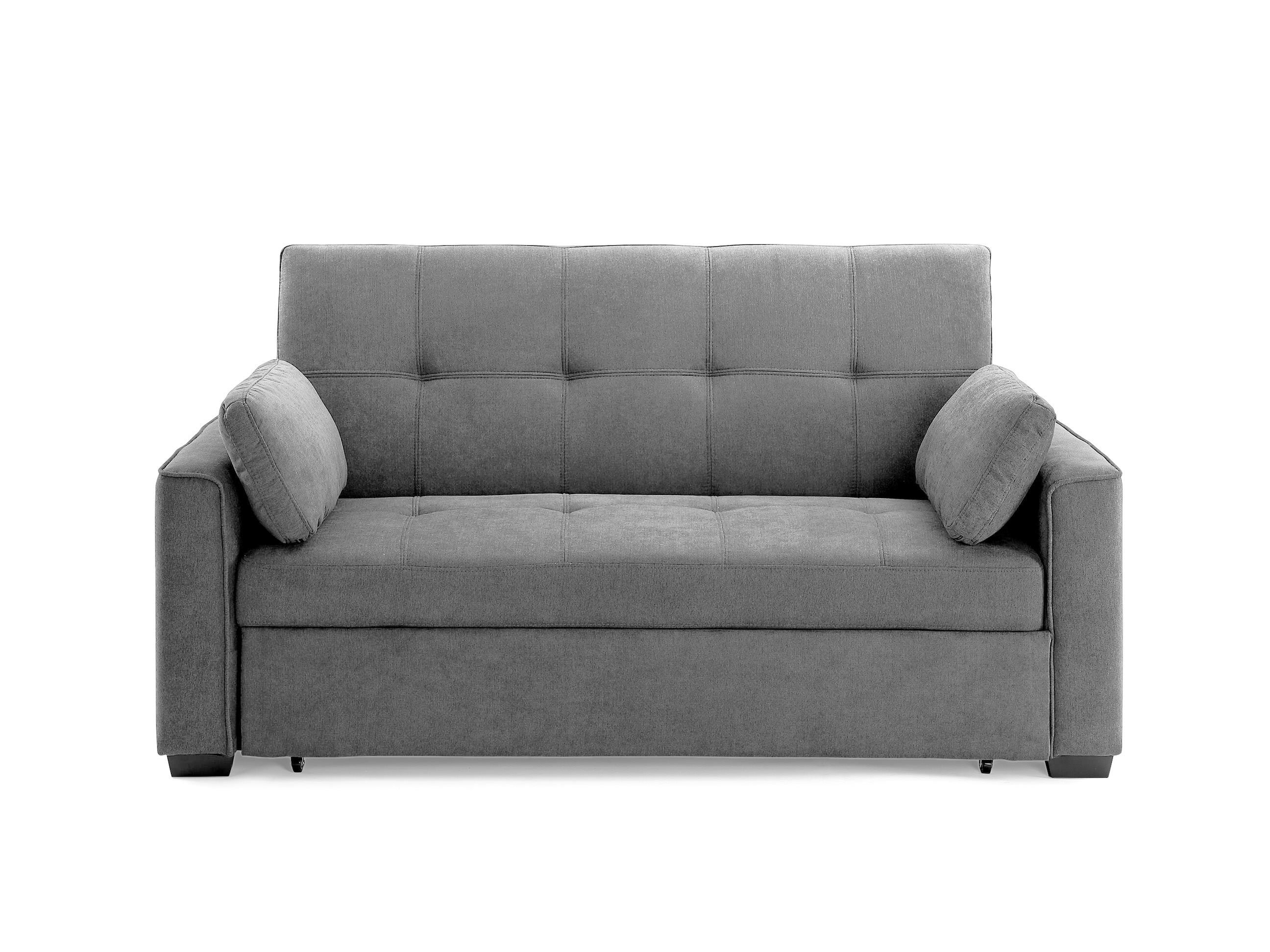 Picture of: Nantucket Loveseat Queen Size Sleeper Light Gray By Night Day Furniture