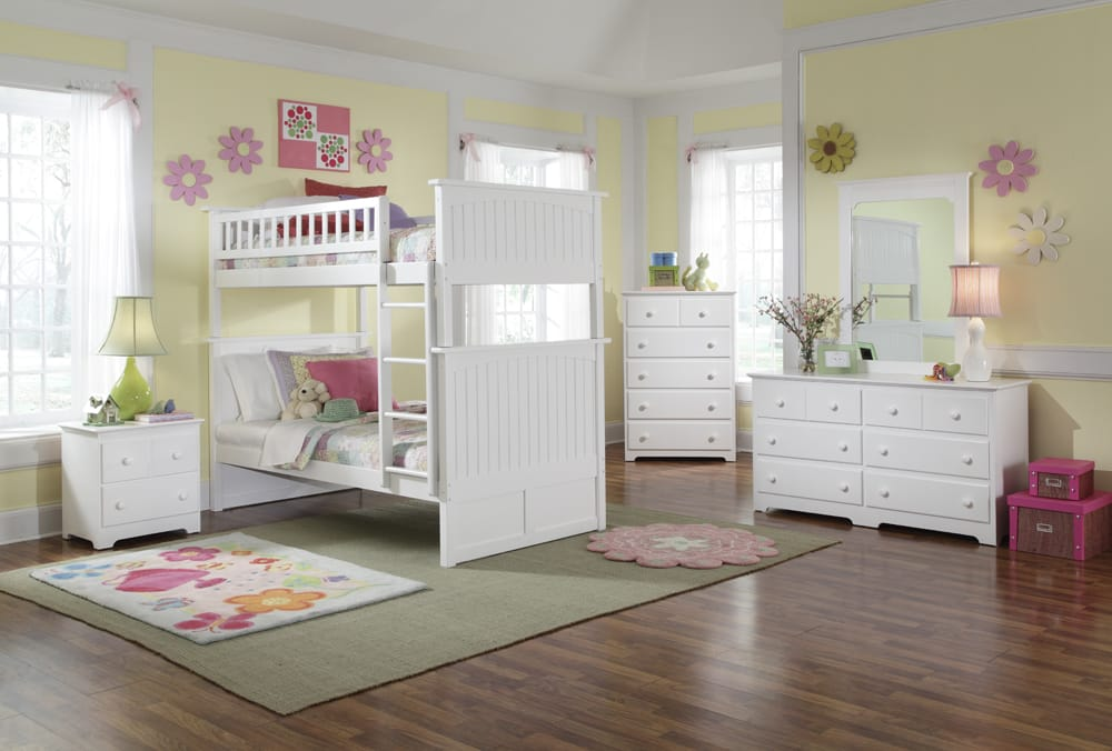 Nantucket White Bunk Bed By Atlantic Furniture