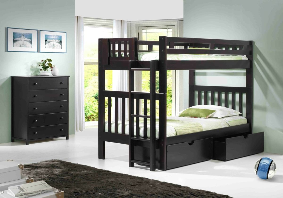 Naples Bedroom Furniture Naples Bunk Bed Espresso By Innovations