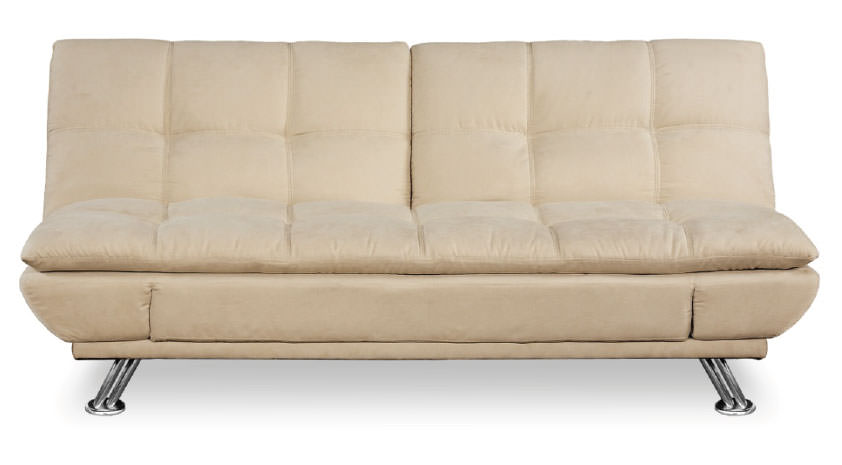 Naples Split Back Pillow Top Promo Khaki Convertible Sofa