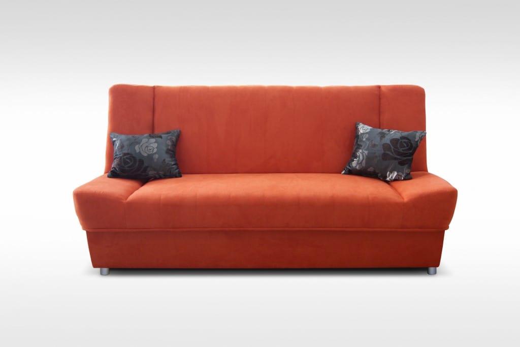 Natalia Orange Wersalka Sofa Sleeper by Skyler Designs