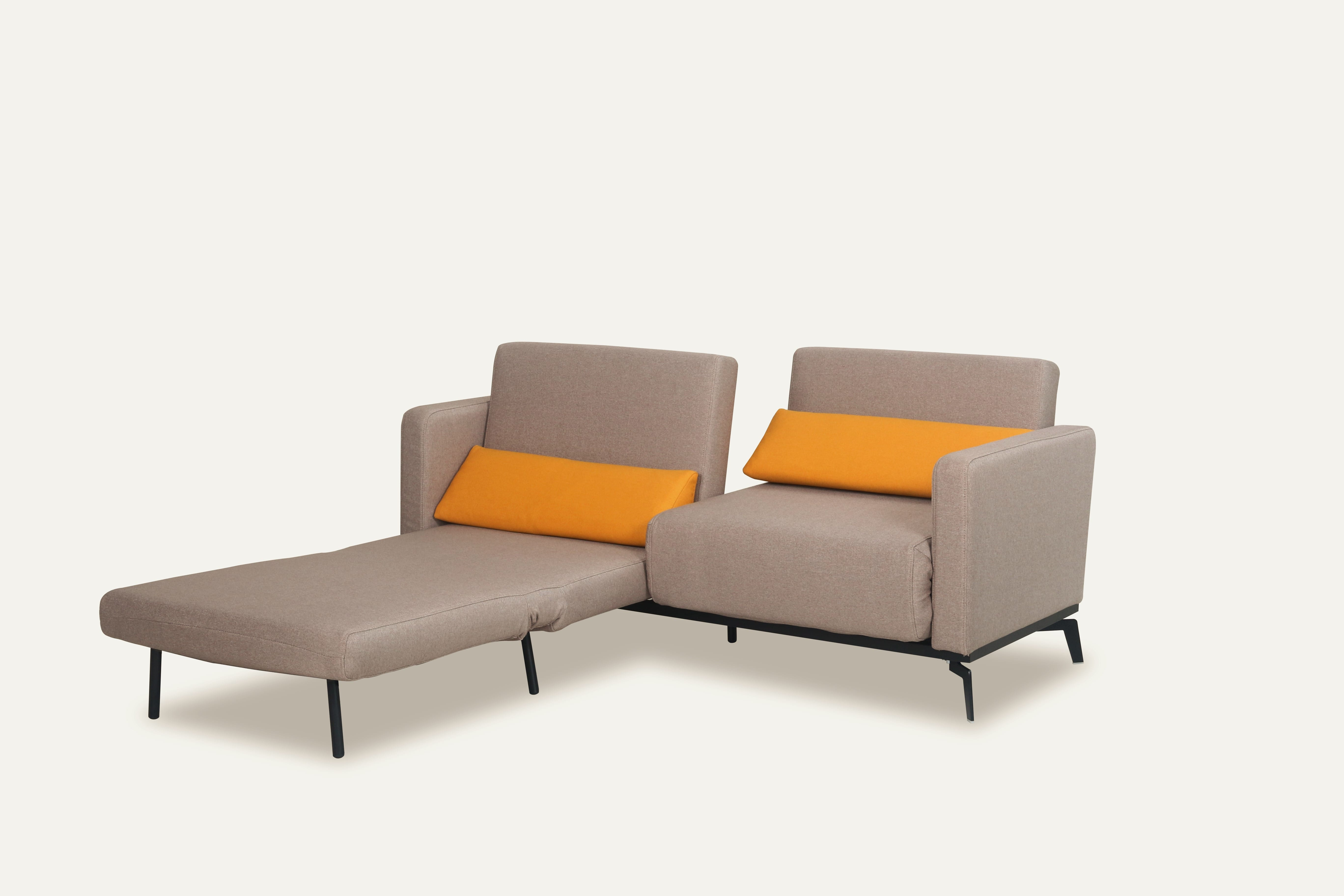 sofa bed 16 brown yelow by new spec