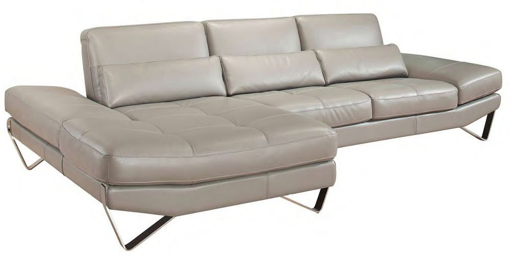 833 Nicoletti Premium Italian Leather Sectional By J Amp M