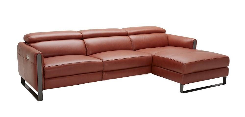Cool Nina Premium Italian Leather Sectional By Jm Furniture Machost Co Dining Chair Design Ideas Machostcouk