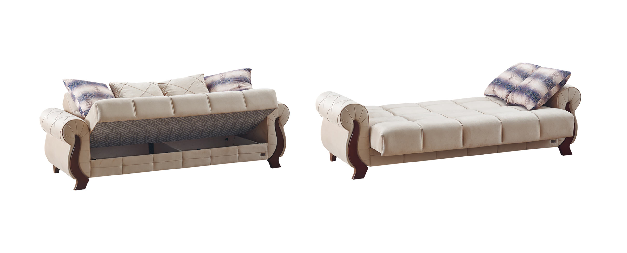 Ontario beige fabric sofa bed by empire furniture usa for Sectional sofas ontario canada