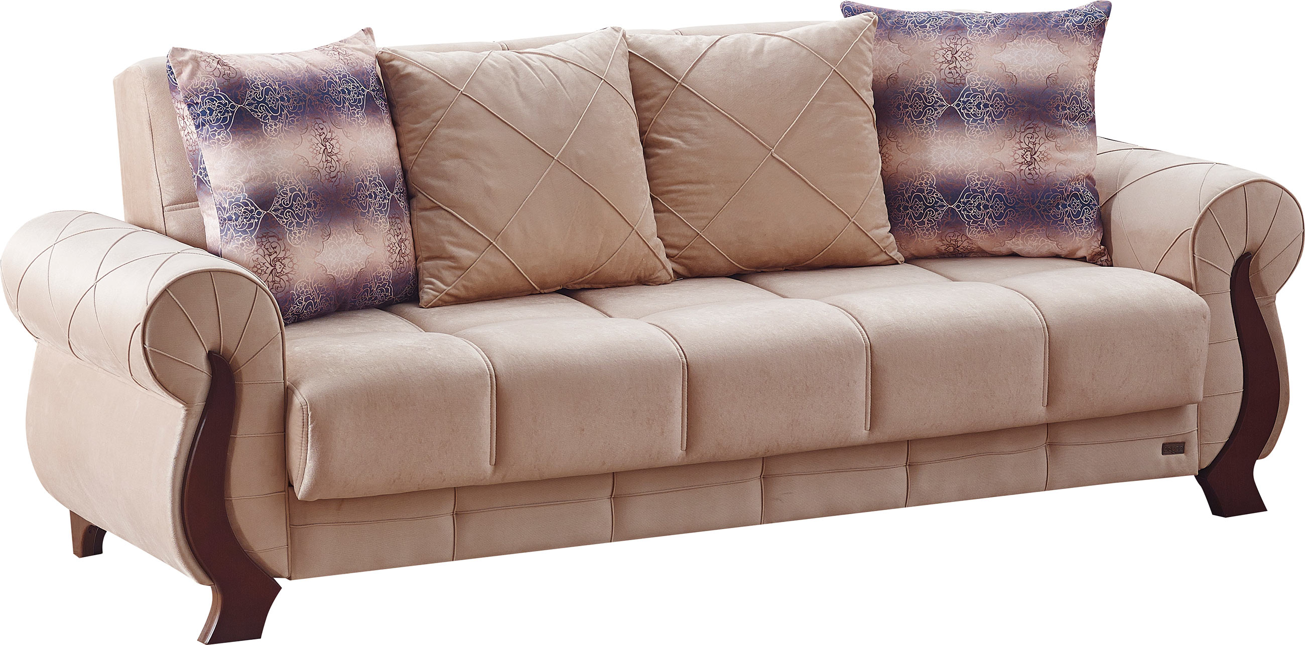 tario Beige Fabric Sofa Bed by Empire Furniture USA