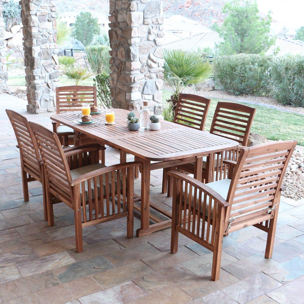 Midland 7 Piece Acacia Patio Dining Set