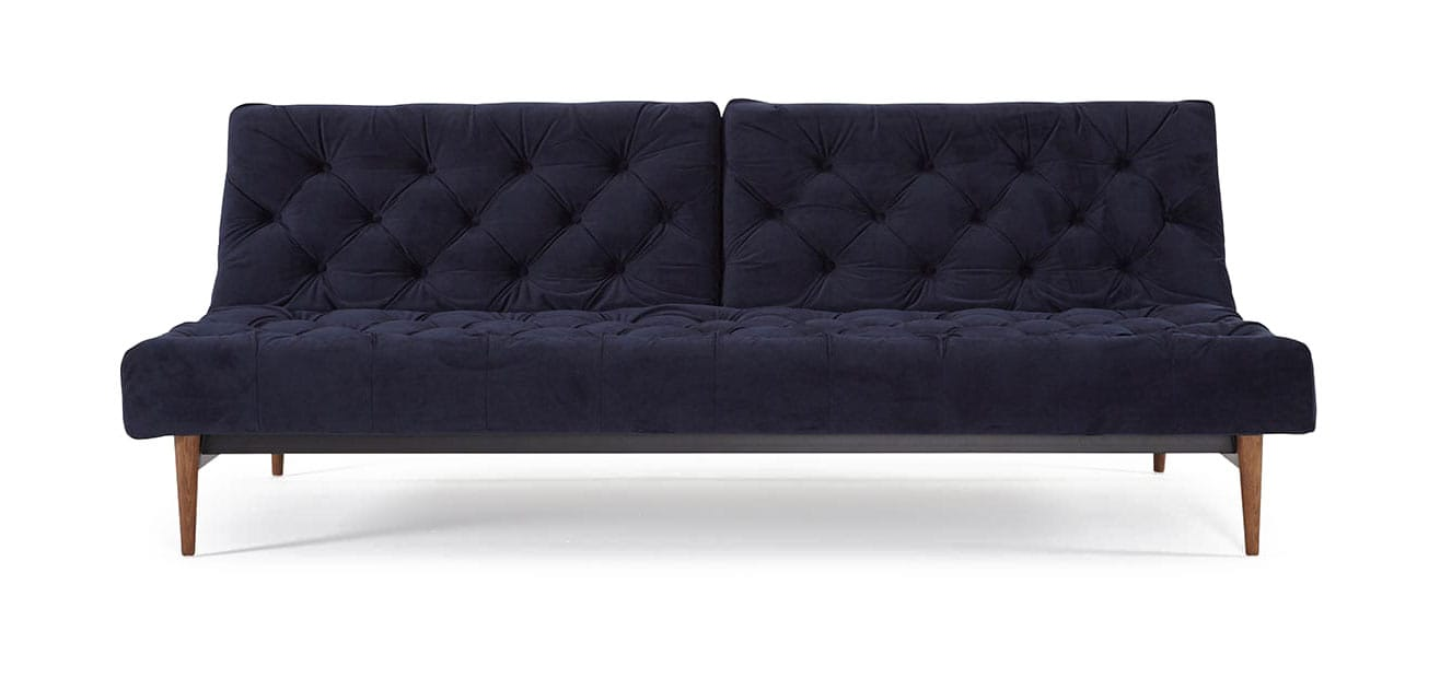 new products acf95 06ea6 Oldschool Chesterfield Sofa Bed Velvet Dark Blue by Innovation