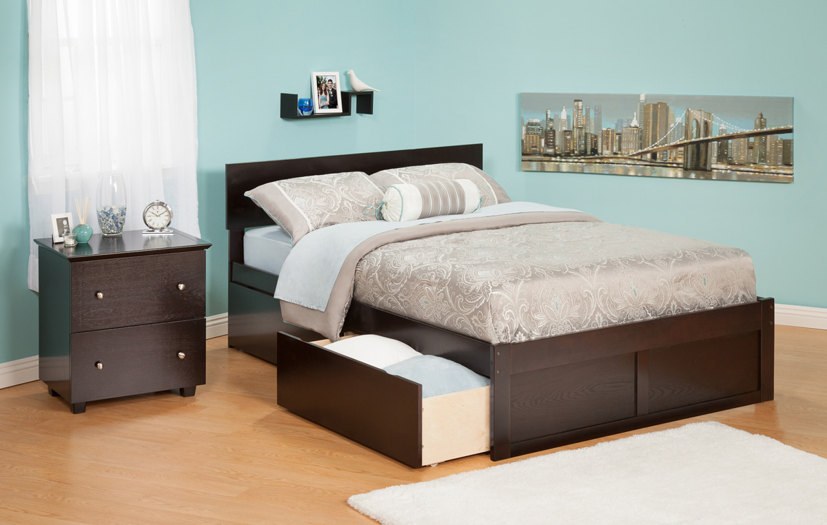 Orlando Espresso Platform Bed By Atlantic Furniture