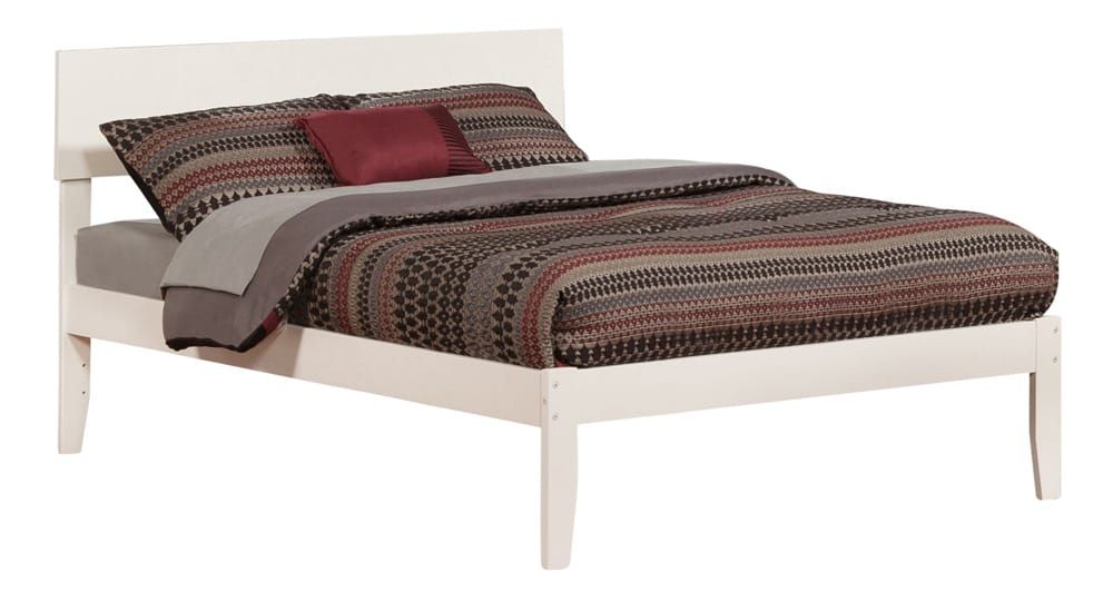 Orlando white platform bed by atlantic furniture for Affordable furniture orlando