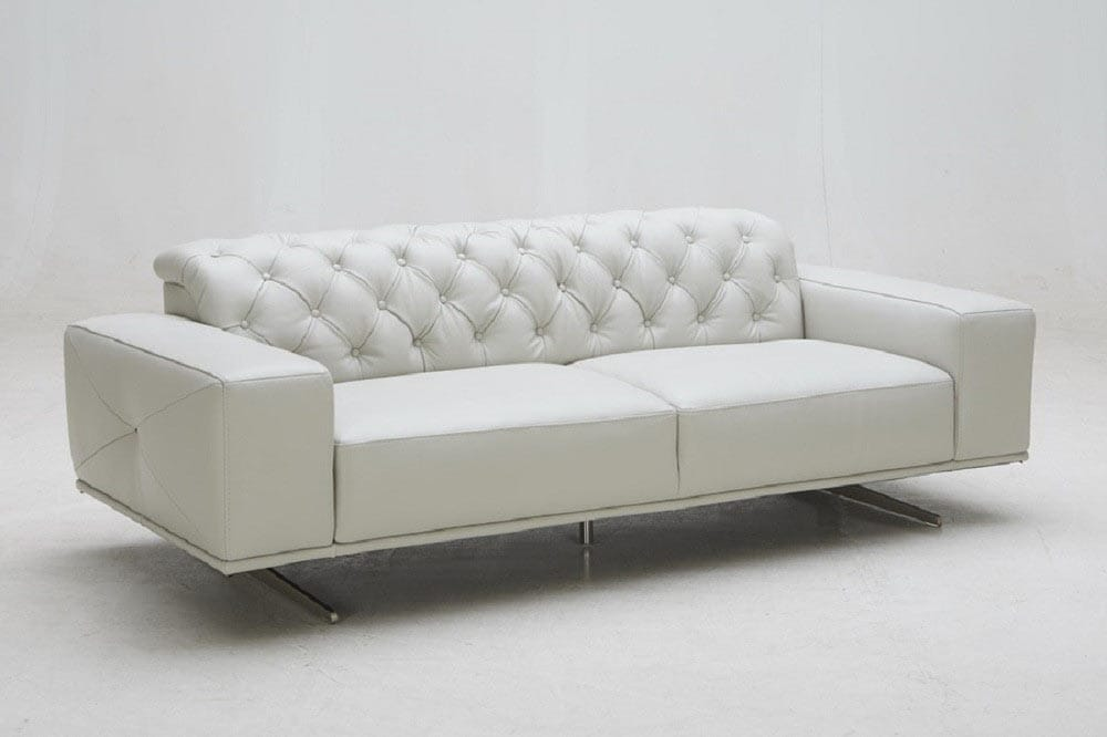 Enjoyable Othello Premium Italian Leather Sofa Light Gray By Jm Furniture Bralicious Painted Fabric Chair Ideas Braliciousco