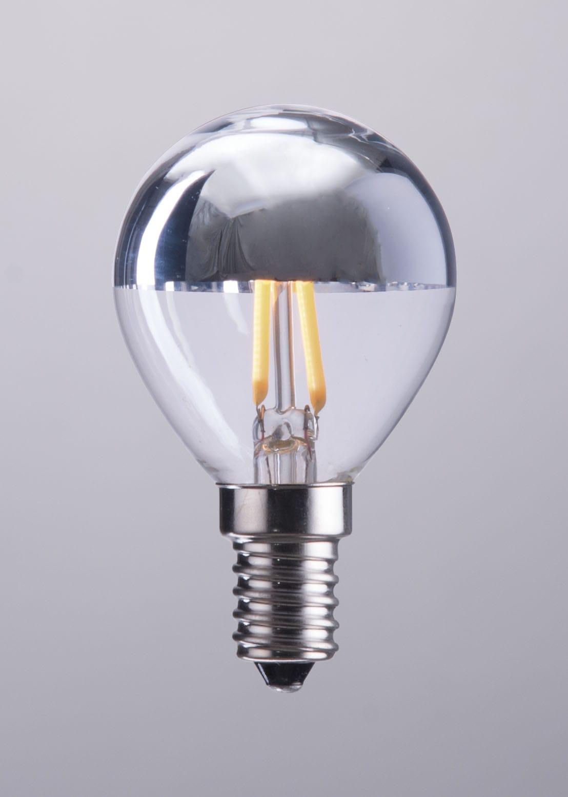 E12 G45 2w Led 80x45mm Half Chrome Light Bulb By Zuo