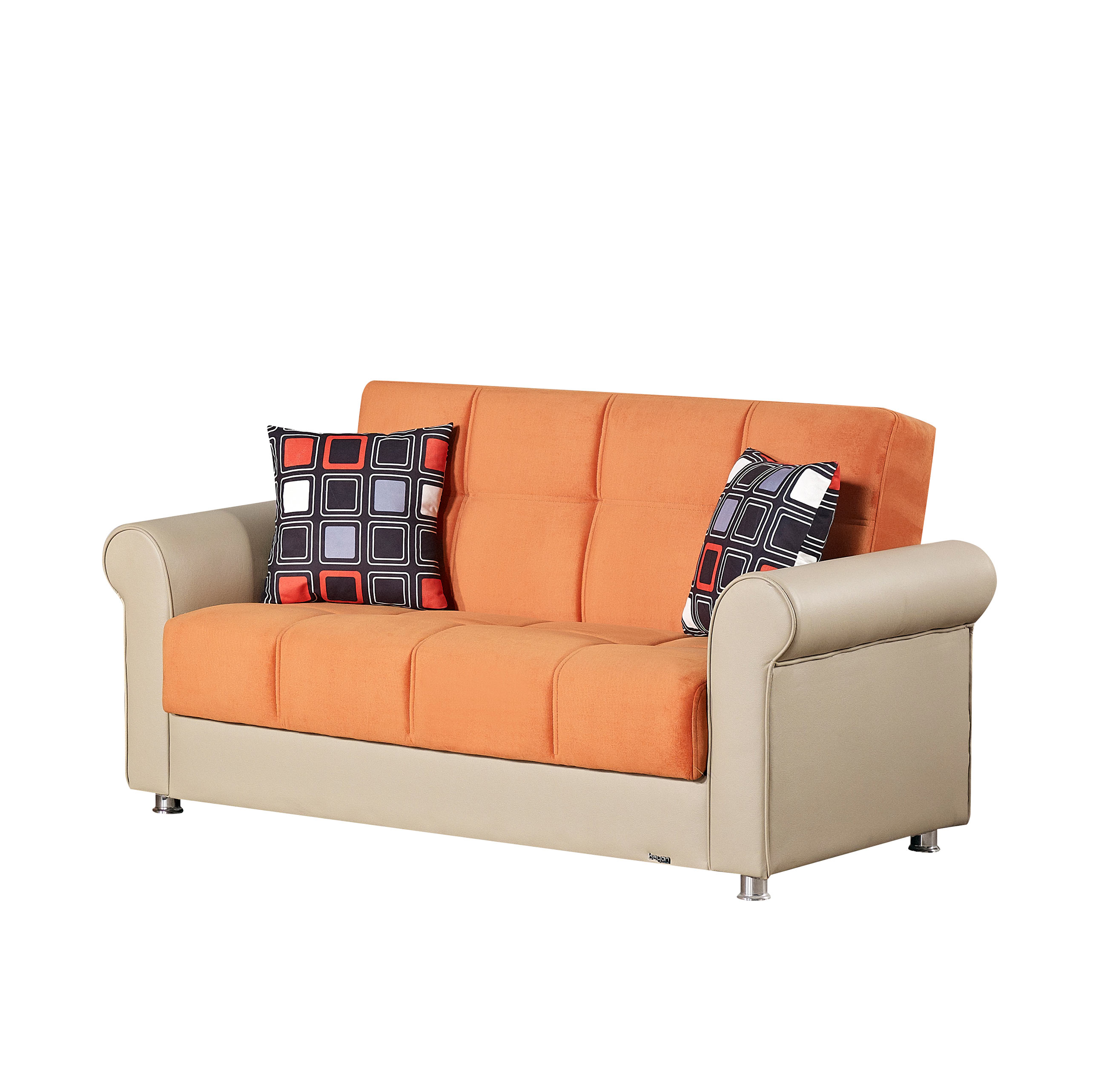 Pacific Orange Fabric Loveseat By Empire Furniture USA